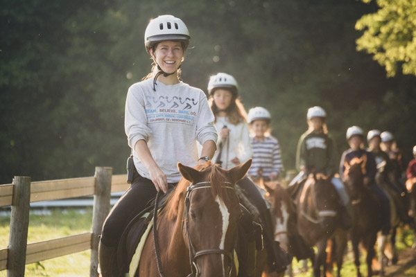 Equestrian Camp - Jamie on Horse-1