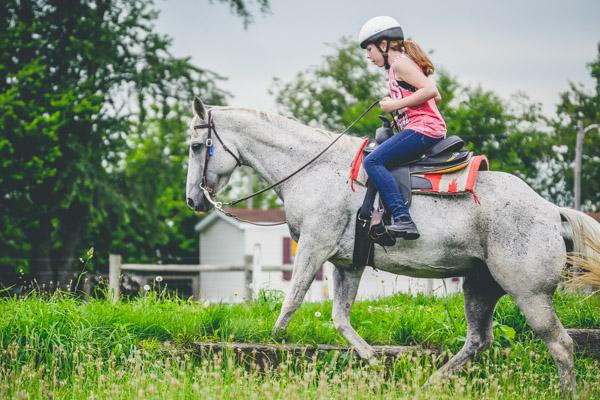 Equestrian Camp - Jumping a Log-1